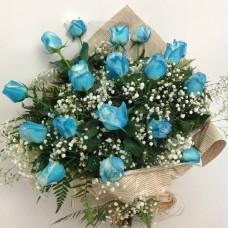 Buquê Rosa Azul Celestial