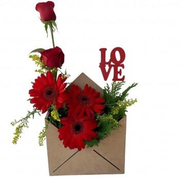 Envelope Rosas Gerberas