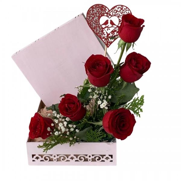 Caixa Rosa Coração
