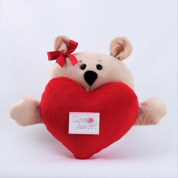 Pelúcia Urso Coração  Perfeito Amor