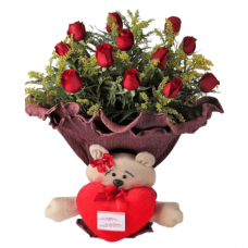 Buquê Rosa Eterno Amor