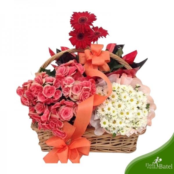 Cesta de Flores Lembrança