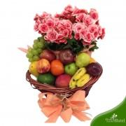 Cesta Fitness Flores & Frutas